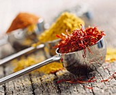 Saffron, curry powder and paprika