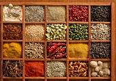 Spices in type case