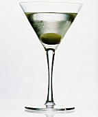 Martini Straight Up with Green Olive