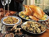 Roast Turkey Buffet with Stuffing