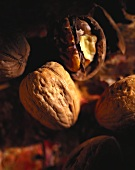 Two walnuts, one cracked