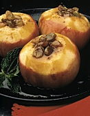 Baked Glazed Apples with Raisins