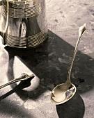 Silver Mug and Silver Spoon
