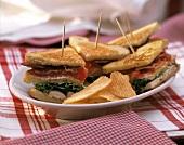 Turkey Club Sandwich with Potato Chips