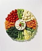 Garden Vegetable Platter with Herb Dip