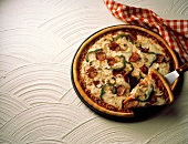 Pepperoni and Vegetable Pizza with Slice