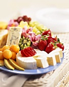 Assorted Fruit and Cheese Platter