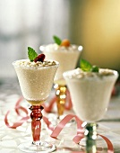 Rice Pudding in Stem Glasses