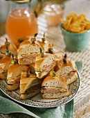 Appetizer Platter with Mini Sandwiches