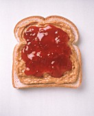 Peanut Butter and Jelly on a Single Slice of Bread