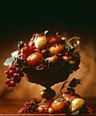Fruit Arrangement in Wood Pedestal Bowl