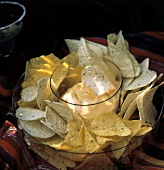 Assorted Corn Chips with Cheese Dip