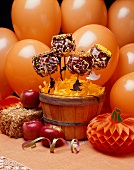 Decorated Candy Apples for Halloween Party