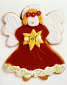 Decorated Angel Cookie for Christmas