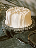 Old-Fashioned Spice Cake with White Icing