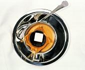 Sugar Cube Splashing into Cup of Espresso