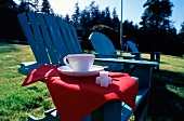 Coffee on the Arm of an Adirondack Chair