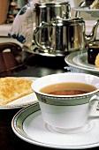 Hot Tea in a Tea Cup