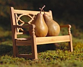 Two Pears on a Bench (Soft Focus)