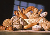 Assorted Loaves of Bread on a Table