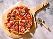 Sliced Pizza Margherita
