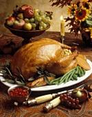 Whole Roasted Turkey with Stuffing