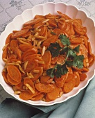 Sliced Carrots with Almond Slivers
