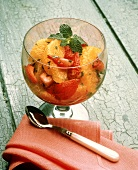 Fruit Cup with Oranges; Strawberries and Mint Garnish