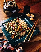 Stir Fried Vegetables; Brown Rice