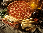 Take Out Food; Pizza and Sub; Breadsticks