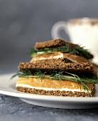 Salmon Tea Sandwiches with Fresh Dill