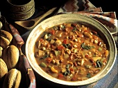 Bowl of Vegetable and Bean Stew
