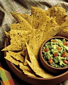 Guacamole with Flat Bread Triangles