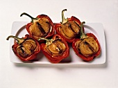 Roasted Red Bell Peppers Stuffed with Onions