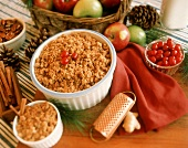 Baked Apple Crisp with Ingredients