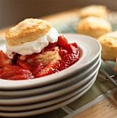 Fresh Strawberry Shortcake on Biscuit