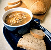 Beef and Barley Soup with Vegetables; Bread
