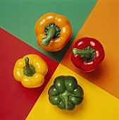 Colorful Bell Peppers from Overhead