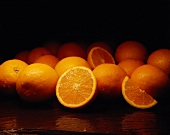 Several Oranges Whole and Cut