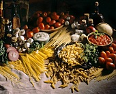 Ingredients for Assorted Pasta Dishes