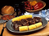 Beef Fillet with Corn on the Cob