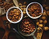 Assorted Nuts: Almonds, Pecans and Hazelnuts