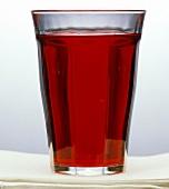 A Single Glass of Cranberry Juice