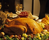 Thanksgiving Turkey with Fruits and Nuts