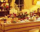 Christmas Table Setting with Salads