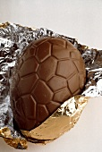 Chocolate Easter Egg in Gold Foil