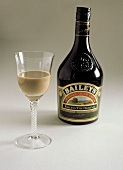 Baileys Irish Cream in a Glass with Bottle