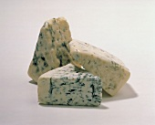 Three Wedges of Blue Cheese