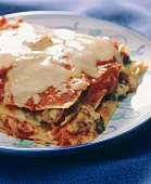 Lasagne alla ferrarese (Lasagne with poultry meat, Italy)