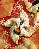 Puff Pastry Pinwheel with Powdered Sugar